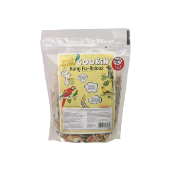 Crazy Good Cookin' Cookable Bird Food Kung Fu-Licious 12 oz (340 g)