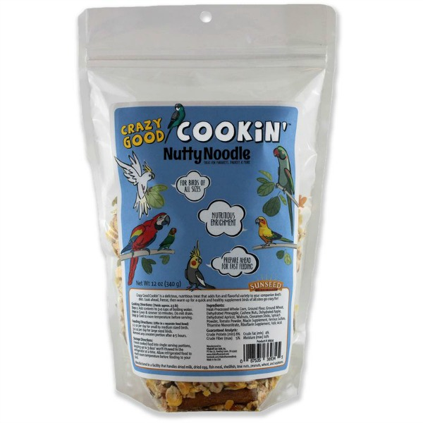 Crazy Good Cookin' Cookable Bird Food Nutty Noodle 12 oz (340 g)