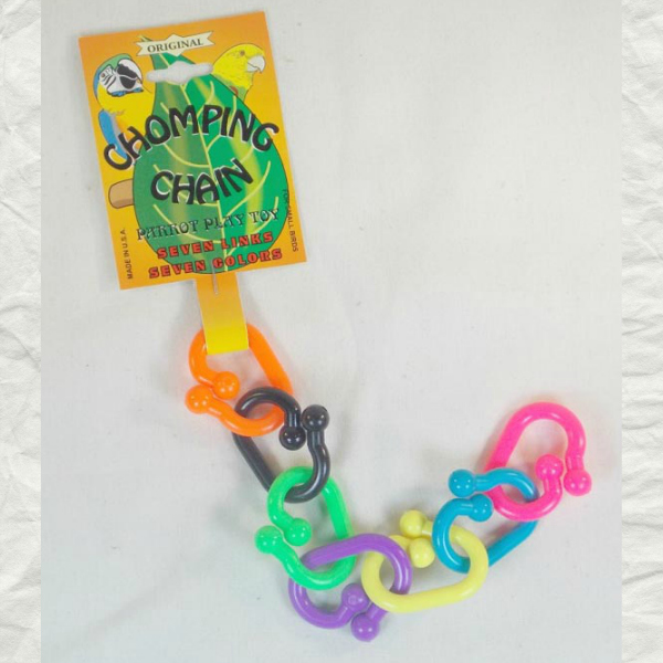 Chomping Chain 7 Plastic Links For Small Parrots