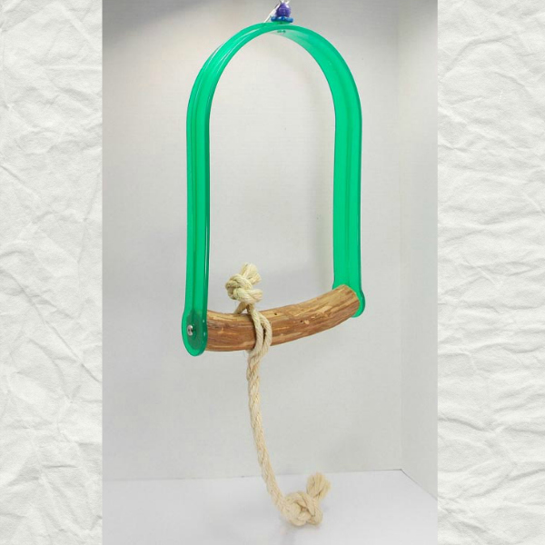 Acrylic Bird Swing with Hardwood Perch Extra Large
