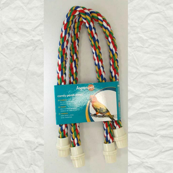 Comfy Rope Cross Perch Medium 7/8 Inch (2.2) By Booda