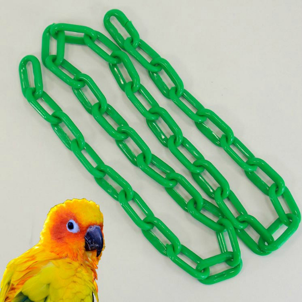 Plastic Chain Green 6 mm (1-1/4 Inch) Long 3 Feet (.91 M)