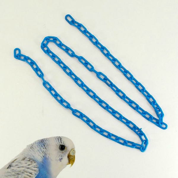 Plastic Chain Blue 3 mm (5/8 Inch) Long 3 Feet (.91 M)