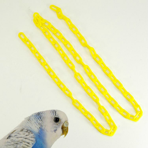 Plastic Chain Yellow 3 mm (5/8 Inch) Long 3 Feet (.91 M)
