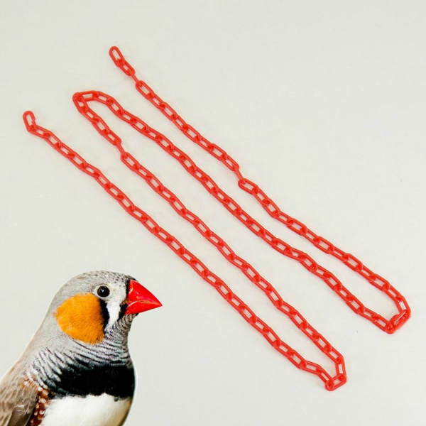 Plastic Chain Red 2 mm (1/2 Inch) Long 3 Feet (.91 M)