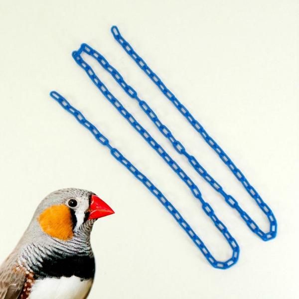 Plastic Chain Blue 2 mm (1/2 Inch) Long 3 Feet (.91 M)