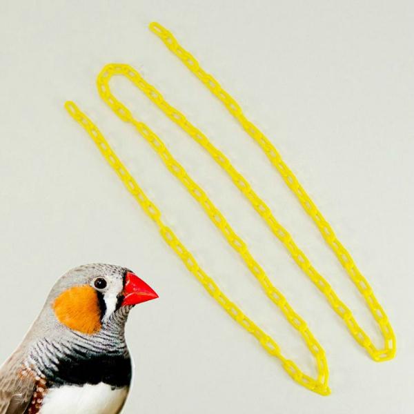 Plastic Chain Yellow 2 mm (1/2 Inch) Long 3 Feet (.91 M)