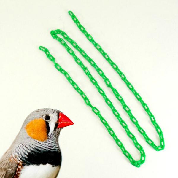 Plastic Chain Green 2 mm (1/2 Inch) Long 3 Feet (.91 M)