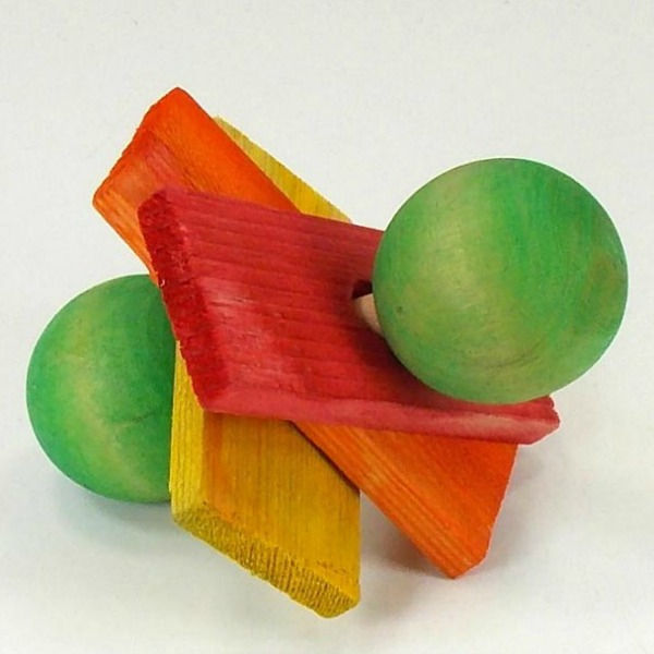 Dumbell Delight Wood Barbell Foot Toy for Birds by Paradise Large