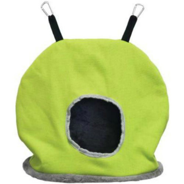 Warm Snuggle Sack for Birds by Prevue Jumbo Green