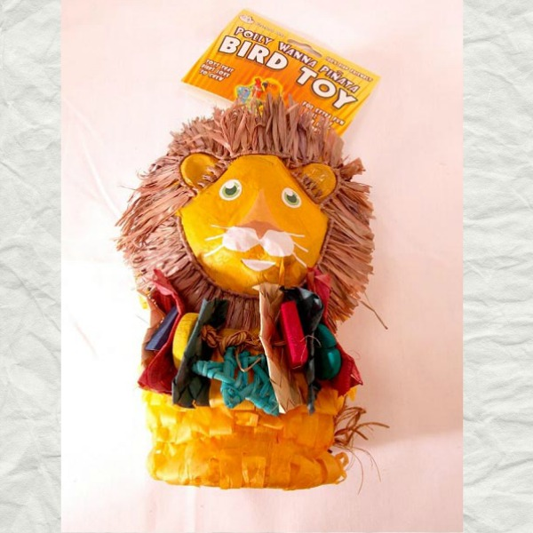 Fetch It Pet Bird Toy Polly Wanna Pinata Louie the Lion