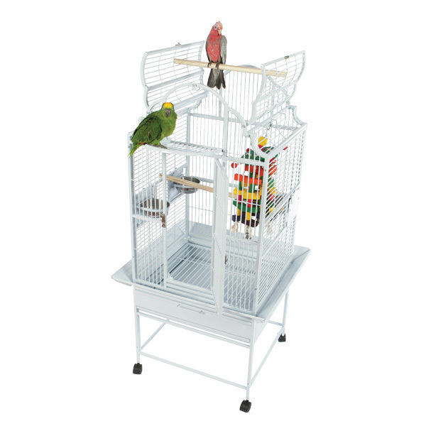 Elegant Top Bird Cage for Smaller Parrots by AE GC6-2422 Black
