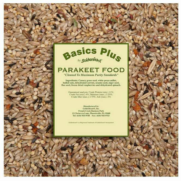 Goldenfeast Basics Plus Parakeet Food 32 oz (907 g)