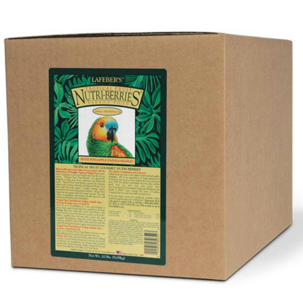 Lafebers Gourmet Tropical Fruit Nutri-berries For Parrots 20 lb (9.09 Kg)