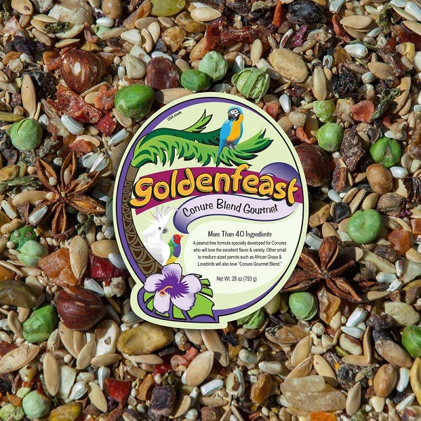 Goldenfeast Conure Blend Bird Food Peanut Free 64 oz (1.8 kg)