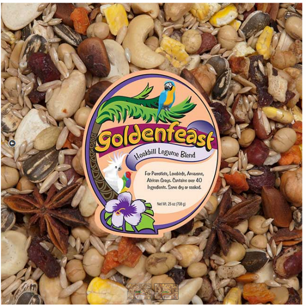 Goldenfeast Hookbill Legume Blend Bird Food 25 oz (708 G)