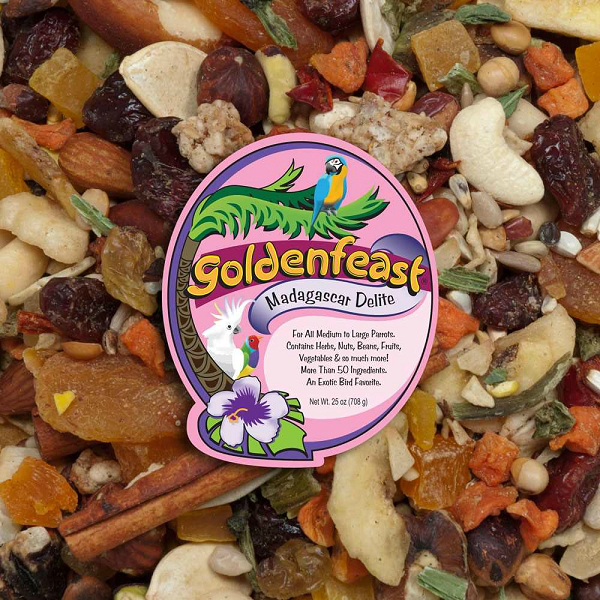 Goldenfeast Madagascar Delite Bird Food 25 oz (708 G)