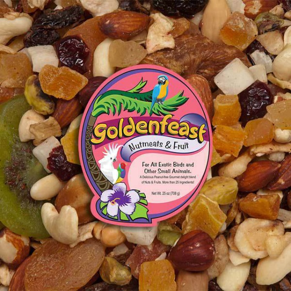 Goldenfeast Nutmeats & Fruit Bird Food 25 oz (708 G)