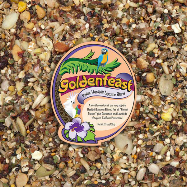 Goldenfeast Petite Hookbill Legume No Peanut Bird Food 25 oz (708 G)