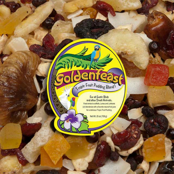 Goldenfeast Tropical Fruit Pudding Blend I Bird Food 25 oz (708 G)