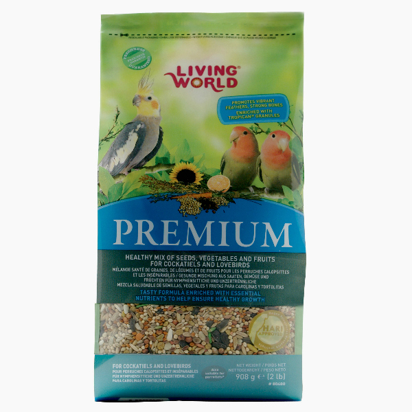 Living World Premium Mix by Hagen Hari Cockatiels And Lovebirds 2 lb (1.36 kg)