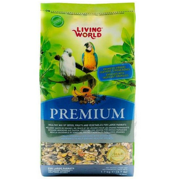 Hagen Living World Premium Mix For Large Parrots 3.7 Lbs (1.7 kg)