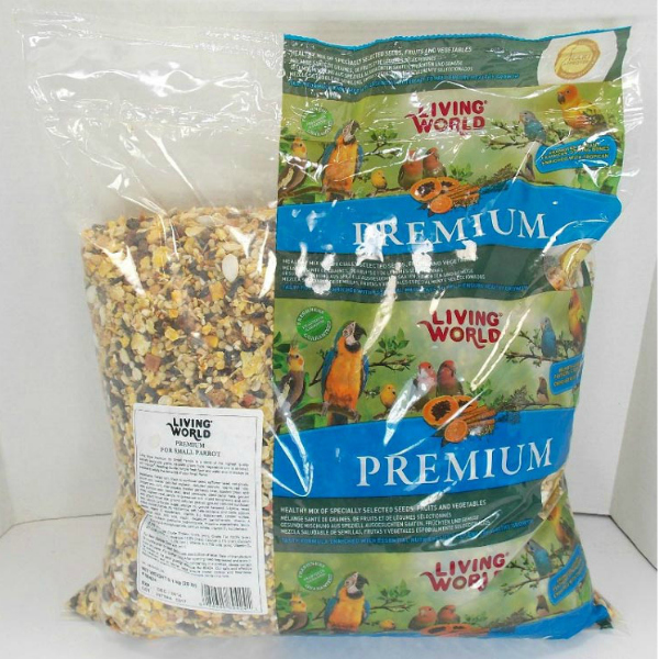Living World Premium Mix by Hagen Hari Small Parrot 2 lb Bulk Bag