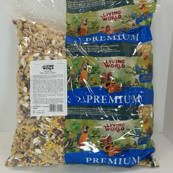 Living World Premium Mix by Hagen Hari Large Parrot 20 lb (9.7 kg)