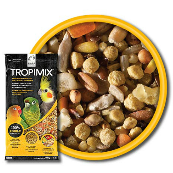 Tropimix No Shell by Hagen Hari Cockatiels And Lovebirds 2 lb (1.36 kg)