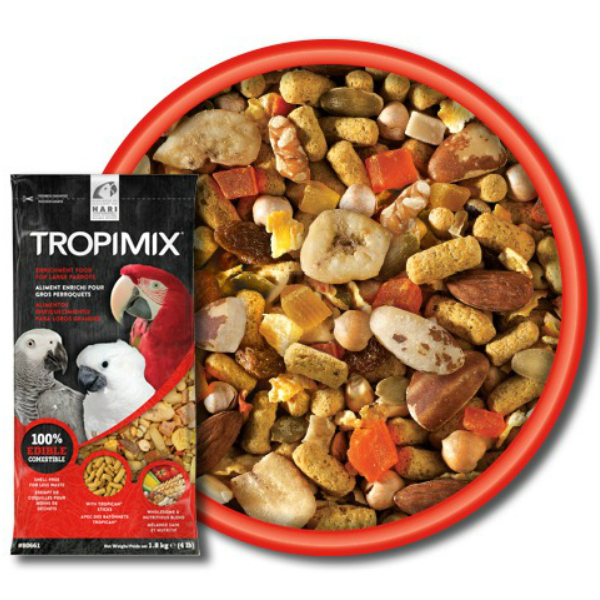 Hagen Tropimix No Shell Formula For Large Parrots 4 lb (1.8 Kg)