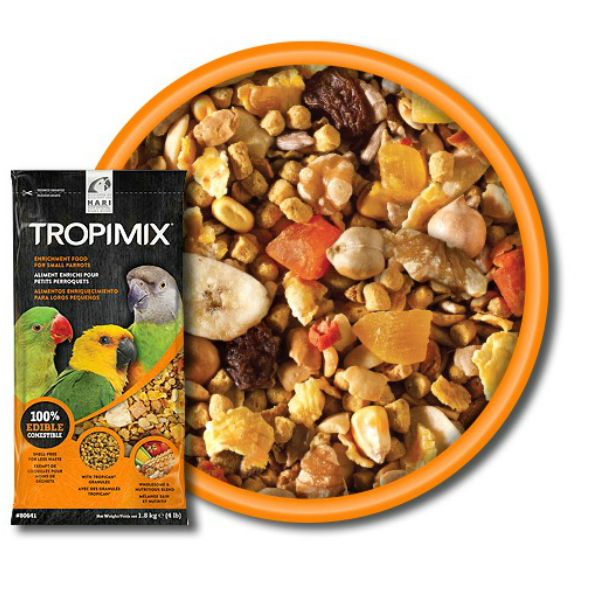 Hagen Tropimix No Shell For Small Parrots 4 lb (1.8 Kg)