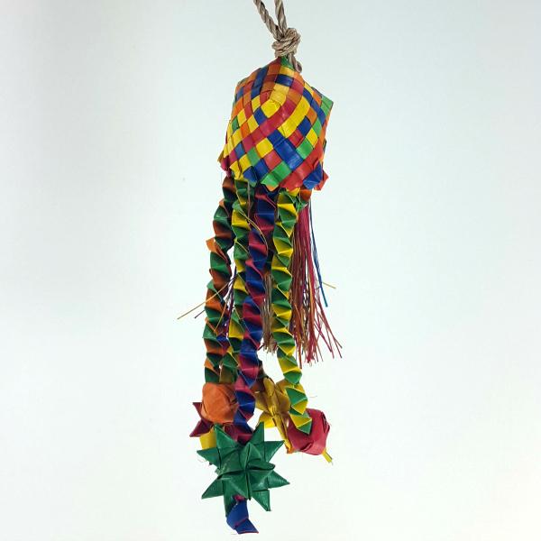 Star Basket Palm Leaf Bird Toy by HARI Small