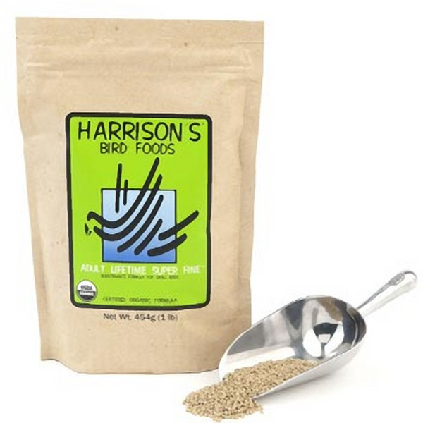 Harrisons Adult Lifetime Super Fine Organic Bird Food 1 lb (454 G)