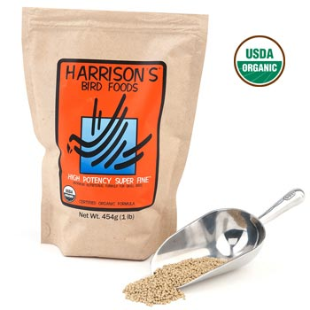 Harrisons High Potency Super Fine Organic Bird Food 1 lb (454 G)