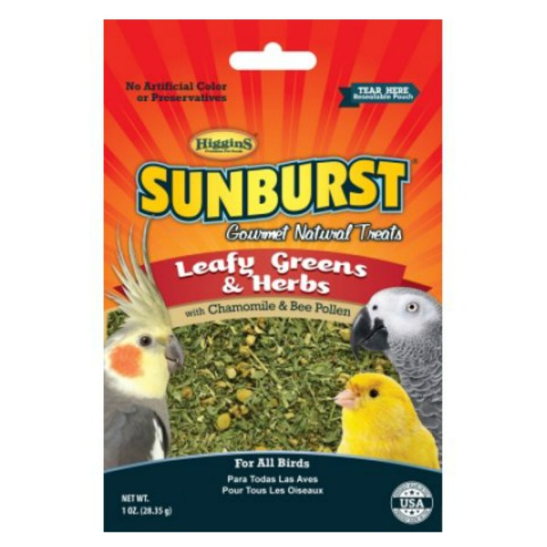 Higgins Sunburst Leafy Greens And Herbs Treat For Birds 2 oz (57 G)