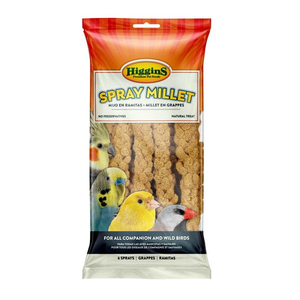 Higgins Naturally Grown Spray Millet for Birds 5 lb (2.267 Kg)