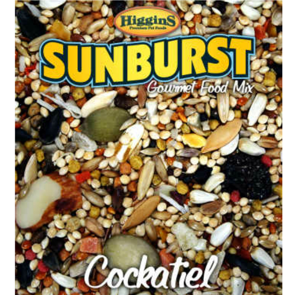 Higgins Sunburst Cockatiel Size Gourmet Bird Food 25 lb (11.34 Kg)