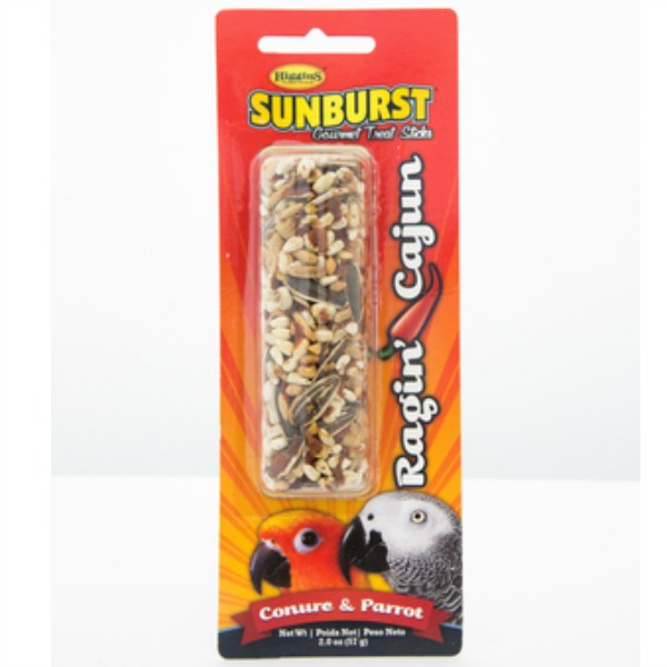 Higgins Sunburst Treat Stick for Large Parrots - Ragin Cajun