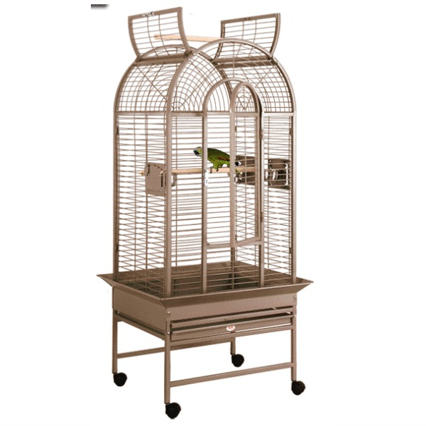 Dome Top Bird Cage for Medium Parrots by HQ G22622D White
