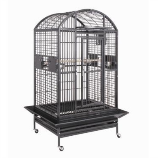 Dome Top Bird Cage for Medium Large Parrots by HQ 90036D Black