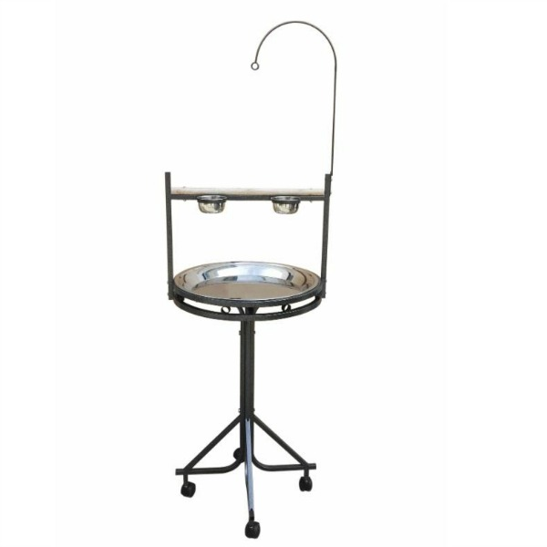 parrot play stand stand for medium size birds 23 inch tray by hq platinum