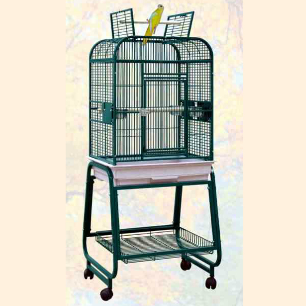 Flat Top Bird Cage Stand & Shelf for Small Parrots by HQ 32217C Black