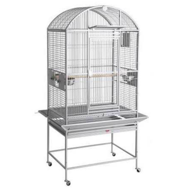 Dome Top Bird Cage for Small Medium Parrots by HQ 90024D Platinum