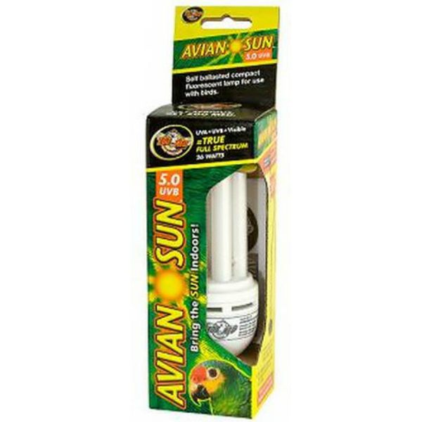 Full Spectrum AvianSun ZooMed Bulb w UVA & UVB 26 Watt