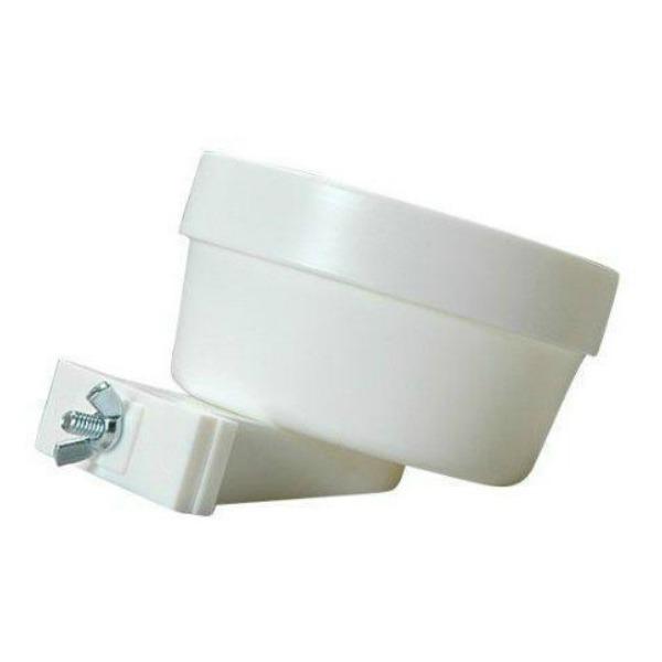 Quick-Lock Crock Durable Plastic by Lixit White 20 oz (.59 l)