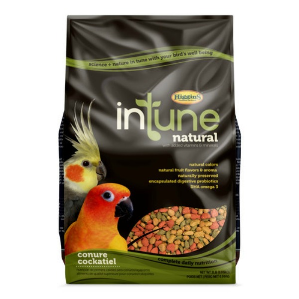 Higgins Intune Bird Food Pellets Conure Cockatiel 2 lb (907g)