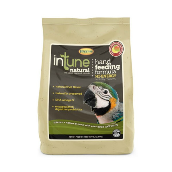 Higgins Intune Hi Energy Natural Hand Feeding Formula 5 lb (2.267 Kg)
