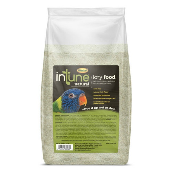 Higgins Intune Lory Softbill Bird Food By Higgins 5 lb (2.267 Kg)