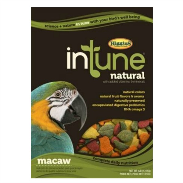 Higgins Intune Bird Food Pellets Macaw 18 lb (8.165 Kg)