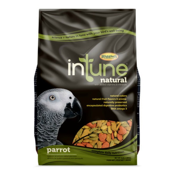 Higgins Intune Bird Food Pellets Parrot 3 lb (1.361 kg)